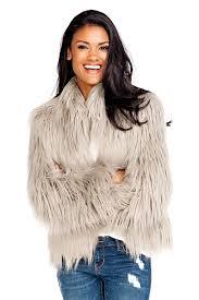 grey tibetan lamb fashionista faux fur jacket 1