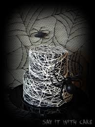 ... very easy and quick to make! I just love the way this spider web looks,  so creepy like a giant spider is spinning its web around this cake lol!