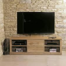 baumhaus mobel oak mounted widescreen television cabinet baumhaus mobel oak 2