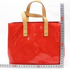 louis vuitton reade monogram vernis pm 869206 red patent leather tote for at 1stdibs