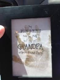 great father s day gift idea handprint art my fingers may be small but i ve got grandpa wrapped around them