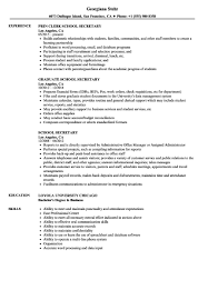 92 Resume Template For Secretary Sample Resume For Secretary