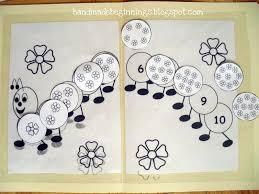 Caterpillar Counting Game Handmade Beginnings Math Activities