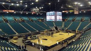 2016 pac 12 men s basketball tournament mgm grand garden arena set up time lapse pac 12