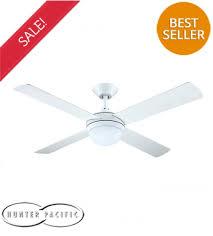 hunter pacific intercept 2 52 ceiling fan with e27 light white