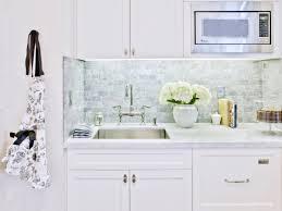 simple kitchen with italian white carrara marble kitchen