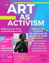 Art Event Flyer Art As Activism The Jordan Institute For Families
