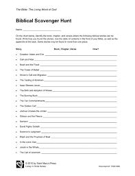 Bible Scavenger Hunt Worksheet Free Worksheets Library | Download ...