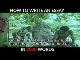 funny how to write an essay of words video dailymotion