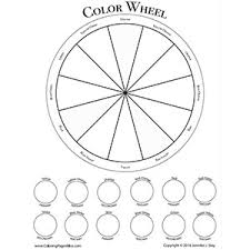You may download these free printable 2021 calendars in pdf format. Free Color Wheel Worksheet