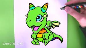Comment Dessiner Un Dragon Kawaii Chris Dessine Youtube