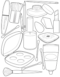 Stylist Design Ideas Makeup Coloring Page Illustration Pinterest