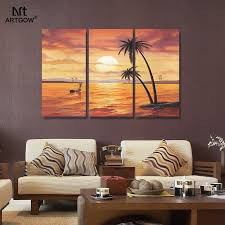 >big size 3 pcs hawaii state poster home wall decorative wall art  big size 3 pcs hawaii state poster home wall decorative wall art picture printed oil painting