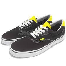 vans era 59 black. vans era 59 neon leather black canvas classic men skate boarding shoes 71010227