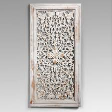 luxury idea carved wall decor hand d cor toronto design white round decorative panels whitewashed wooden