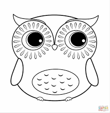 Small Picture For Kids Free Owl Coloring Page Printable Owl Coloring Pages For