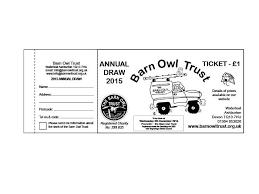 Prize Draw Tickets Draw Ticket 2015 A The Barn Owl Trust