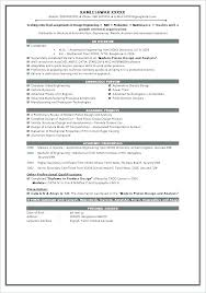 Manufacturing Engineering Sample Resume Gorgeous Fresher Resume Sample Format For Resume For Freshers Sample Resume
