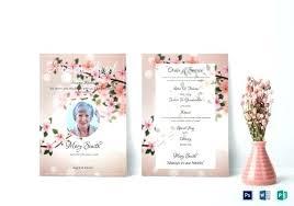 Funeral Invitation Template Simple Obituary Card Template Eulogy Funeral Invitation Templates Free