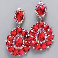 74 best complete the look red rhinestone crystal jewelry red rhinestone earrings