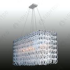 glass link chandelier chandelier glass links rectangle glass chain link chandelier