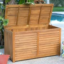 outdoor wood storage cabinet large wooden boxes interior deck with lids patio containers cushion bin decorative