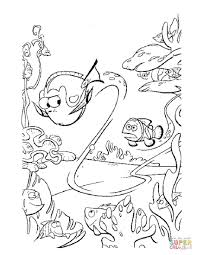Coloring Pages Finding Nemo Coloring Pages Free Dory Swim Too Fast