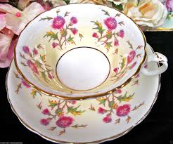 Decorative Cups And Saucers CAULDON TEA CUP AND SAUCER GLENCOE PATTERN THISTLE TEACUP in 26