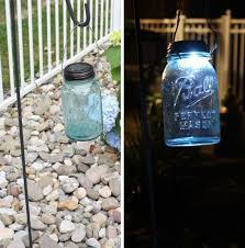 20 mason jar solar light 20 diy garden lighting ideas
