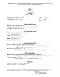 Examples Of Resumes For High School Students Example Resume For High School Students For College Applications 68