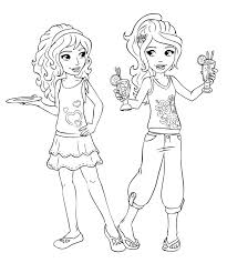 Small Picture Lego Friends Coloring Pages Online Maelukecom