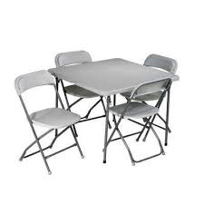 folding chairs and tables.  Folding 5Piece Grey Folding Table And Chair Set Intended Chairs And Tables B