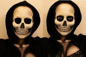 skull makeup by lekstedt