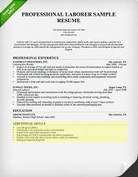 Skills Section For Resumes Laborer Resume Skills Section Professional Resume Samples