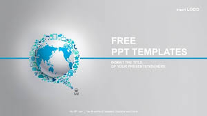 Free Business Templates For Powerpoint World Globe With App Icon Business Ppt Templates