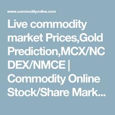 Live Commodity Market Prices Gold Prediction Mcx Ncdex Nmce