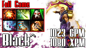 black anti mage 1023 gpm 1080 xpm dota 2 full game youtube