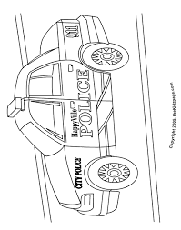 Police Car Free Coloring Pages For Kids Printable Colouring