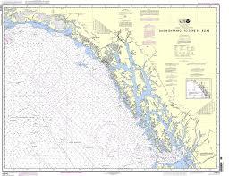 Alaska Nautical Charts Noaa Chart 16016 Dixon Entrance To Cape St Elias