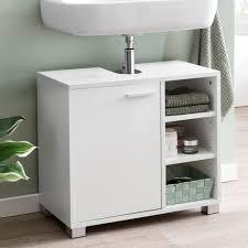 Finebuy Waschbeckenunterschrank Fb51390 60 X 55 X 32 Cm Weiß