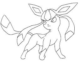 Small Picture Pokemon Coloring Pages Glaceon LineArt Pokemon Detailed