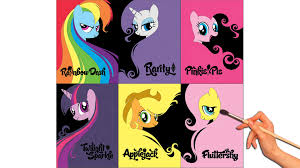 Small Picture My Little Pony Friendship Is Magic Character Posters Coloring