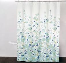 Amazon Com Dkny Falling Petals Cotton Fabric Shower Curtain Blue