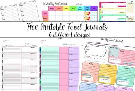 Diet And Exercise Journal Printable Free Printable Food Journal 6 Different Designs
