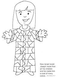 Joseph Coat Of Many Colors Free Coloring Page And His Coat Of Many