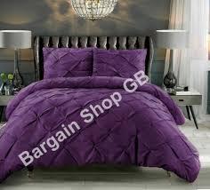 pintuck luxury soft silky duvet cover