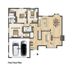 Floor Plans For A Detached Single Family House Proposed For The Single Family House Plans