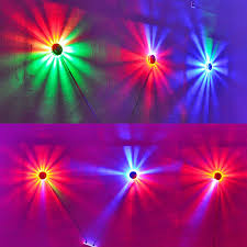 transctego mini laser disco stage light 48 led rgb projector lighting sunflower bar dj sound background wall lights party lamp in stage lighting effect from