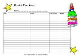 Summer Book Reading Chart Books Read Chart Summer Reading Log Printable Reading