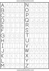 Printable Alphabet Writing Practice Sheets Make A Printable Alphabet Letter Tracing Worksheets Letter